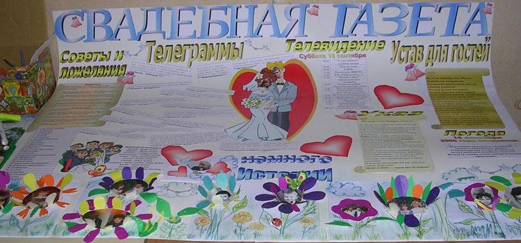 Плакат с фотографиями на свадьбу своими руками