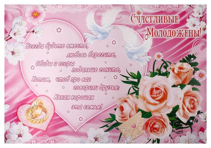 Плакат с пожеланиями на свадьбу своими руками